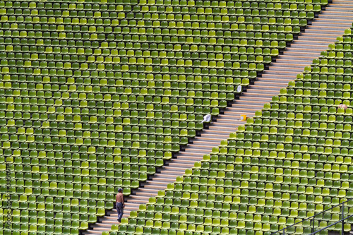 In de dag Stadion Sitze im Fußballstadion 2