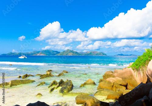Photo sur Aluminium Ile Shore Waves Seascape