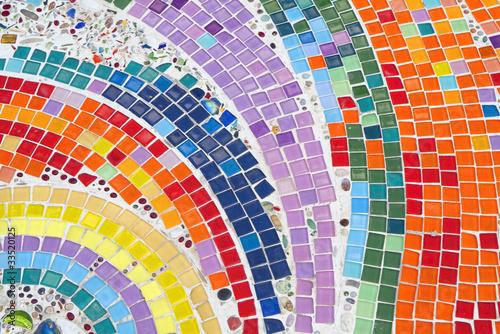 Colorful Mosaic Wallpaper Mural