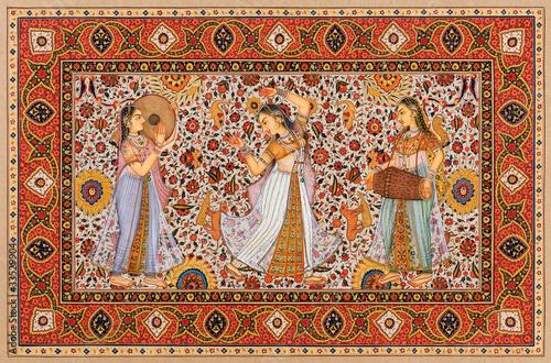 Indian miniature painting, Jaipur, Rajasthan, India