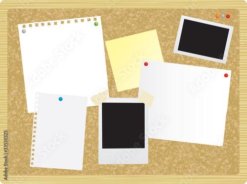Fotografie, Obraz  noticeboard or pinboard