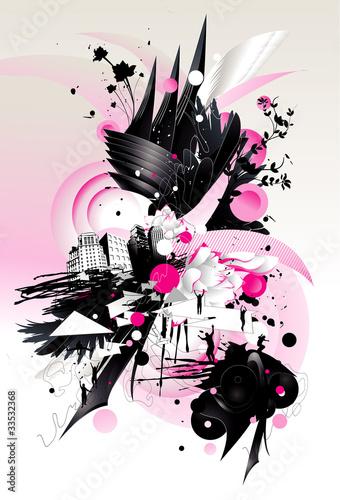 splash color vector illustration