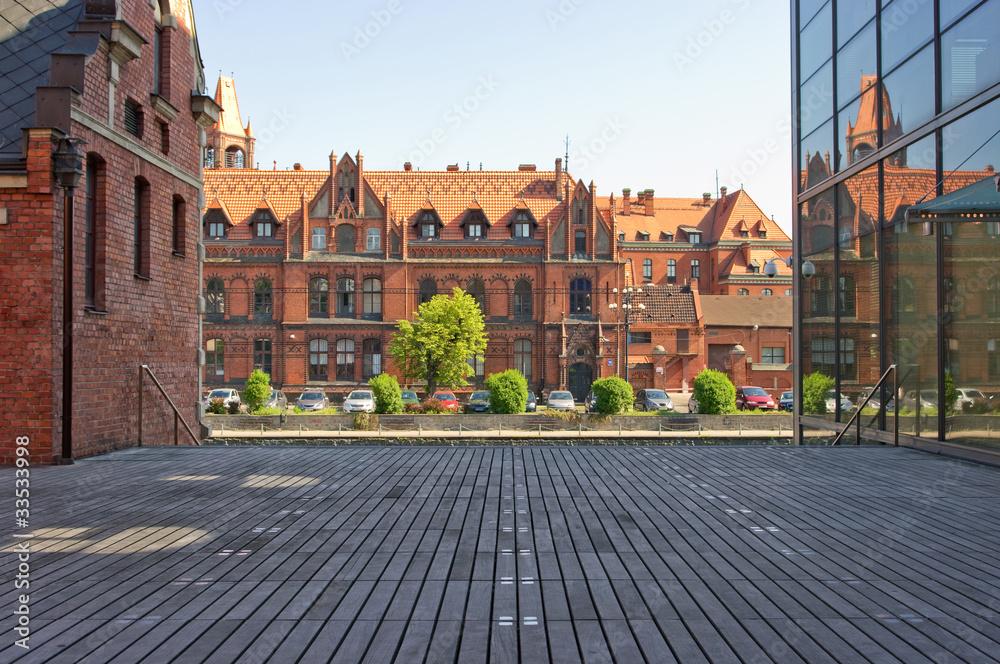 Fototapety, obrazy: Stare i nowe budynki w Bydgoszczy