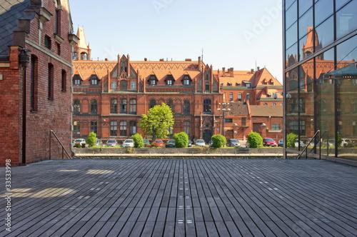 Obraz Stare i nowe budynki w Bydgoszczy - fototapety do salonu