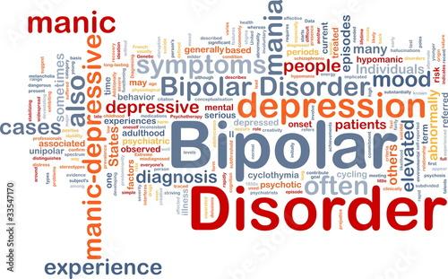 Bipolar disorder background concept Tablou Canvas
