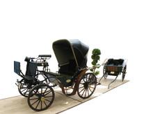 Elegante Kutsche Mit Gepäckwagen