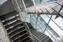 Open Stairwell In A Modern Office Building