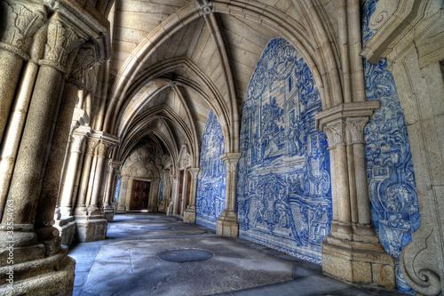 Fotografie, Obraz  Sé Cathedral cloister, Porto, Portugal