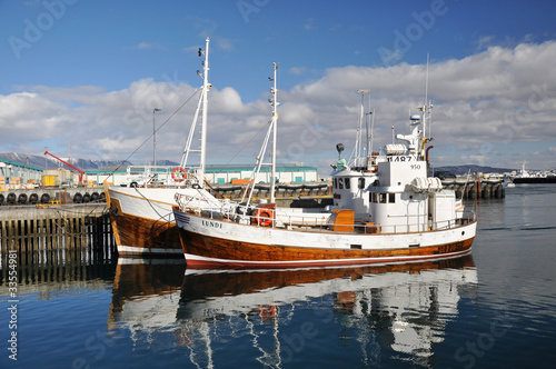Fishing boats in Reykjavik, Iceland
