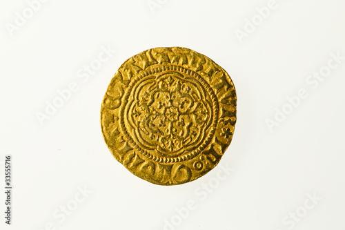Photo  Gold quarter noble of Britain's King Henry VI, reverse