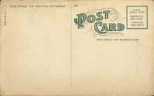 Unique Vintage Blank Postcard