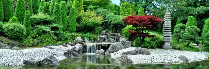 Fototapeta Wodospad Japanischer Garten