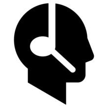 Head Profile Silhouette With Handsfree