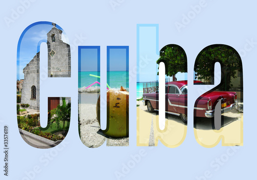 Cuba with different tourist spots Wallpaper Mural