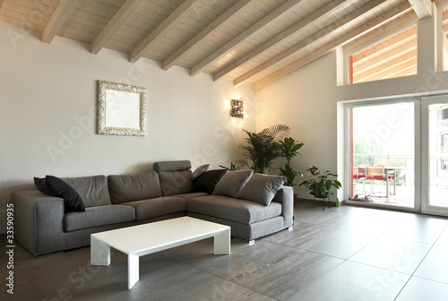 Fotografia  modern architecture contemporary, interior, large livingroom