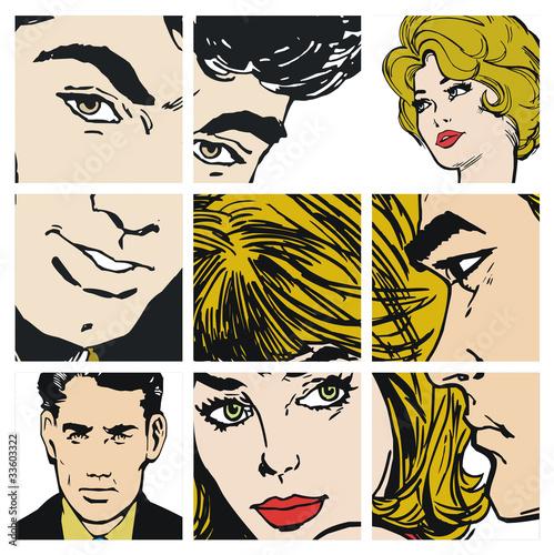 kolaz-portretowych-komiksowych-zdjec