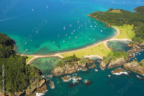 Photo Stands New Zealand Aerial - Roberton Island, Bay of Islands, New Zealand