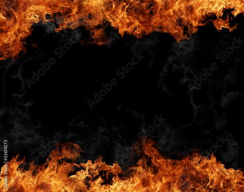Fotobehang Vuur Fire frame