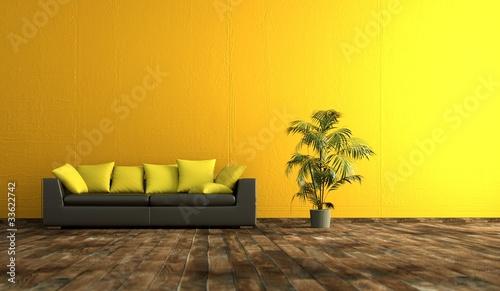 canvas print motiv - virtua73 : Wohndesign - gelbe Wand