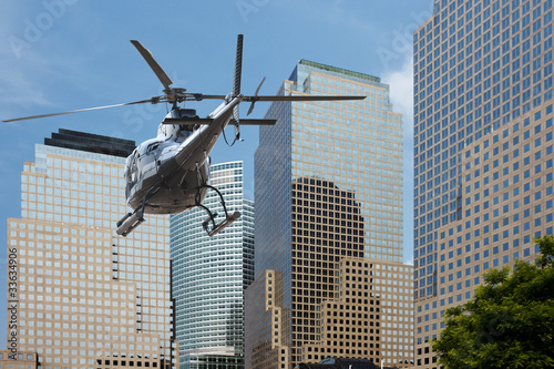 Poster Helicopter Helicopter Manhattan financial district