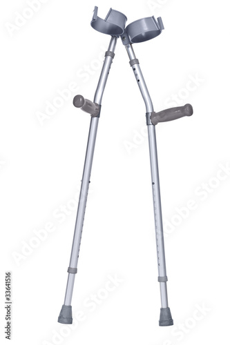 Leinwand Poster Crutches isolated clipping path