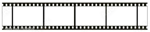 Fototapeta Blank highly detailed real 35mm black-and-white film frame obraz na płótnie