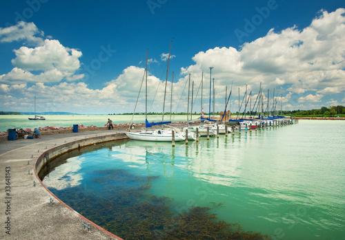 Deurstickers Nice Lake Balaton at summer