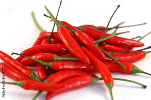 Fototapety, obrazy: A pile of red hot chili peppers