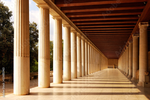Canvas Print Stoa of Attalus at Athens
