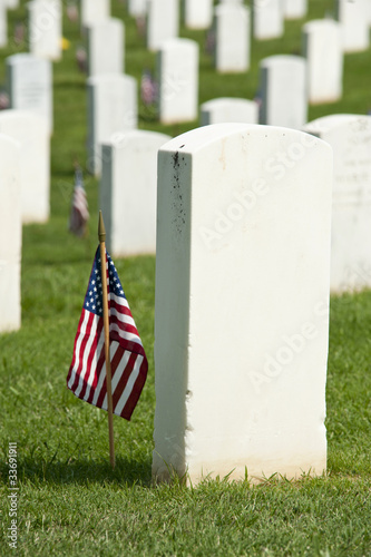 Keuken foto achterwand Begraafplaats National Cemetery Tombstones Memorial Day