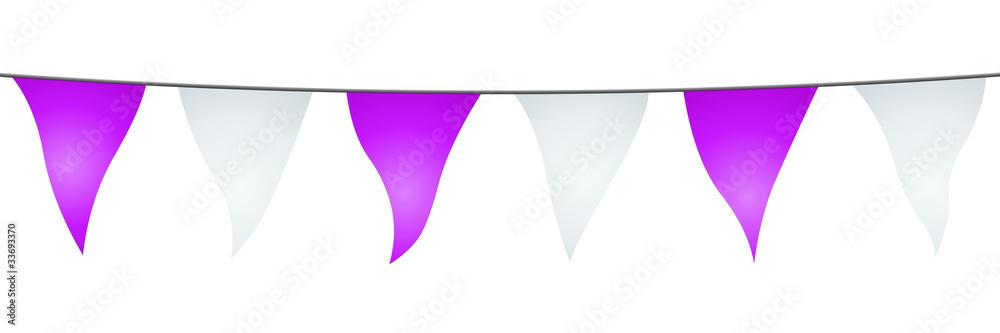 Valokuva  Guirlande de fanions violets et blancs
