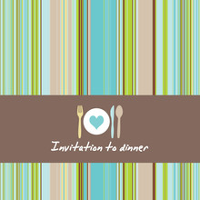 Dinner Invitationcard With Cut...