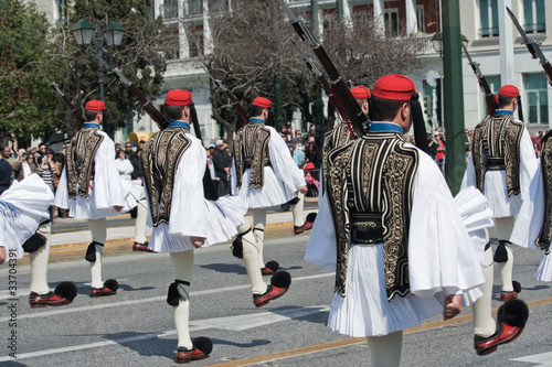 Canvas Prints Athens Evzones in Greek military parade