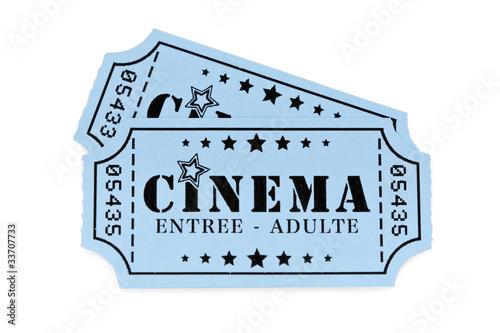 Tickets de cinéma Canvas Print