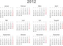 Kalender Quer 2012