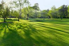 Sunset/sunrise On A British Golf Course