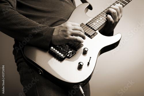 Fotografie, Obraz rock guitarist