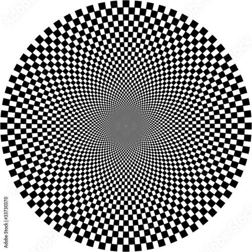 Wall Murals Psychedelic optische Illusion, Kreis