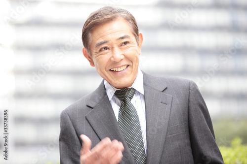 Fotografie, Obraz  笑顔のビジネスマン