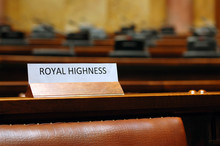 Empty Royal Highness Seat In C...