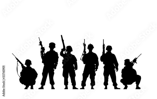 Fotografia  Soldier Silhouette