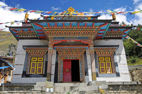 Foto op Aluminium Nepal Old Buddhist Monastery, Nepal