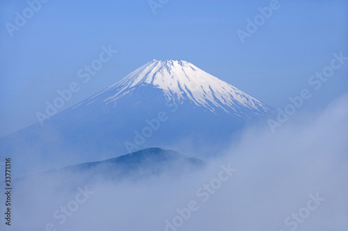 Fotografie, Obraz  雲海と富士山