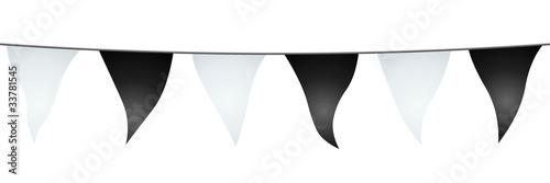Valokuva  Guirlande de fanions blancs et noirs