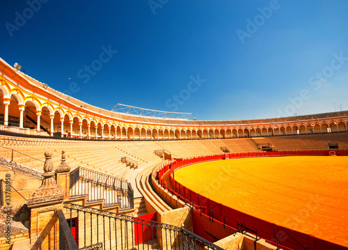 Fotografie, Obraz  The bull arena of Seville, Spain