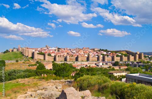 panorama of Avila, Spain