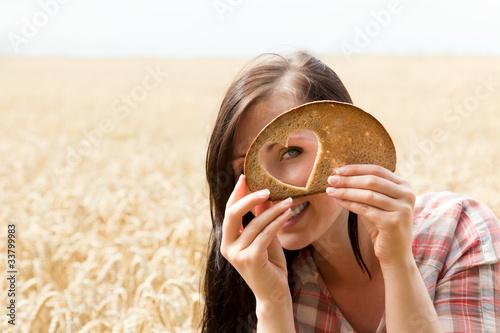 Brot mit herz Fototapete