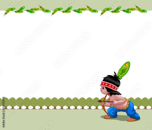 Fotobehang Indiërs Little Fun Indian