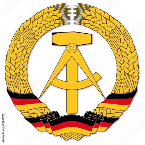 Cuadros en Lienzo  DDR Wappen