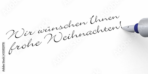 Stift - Wir wünschen Ihnen frohe Weihnachten - Buy this stock photo ...